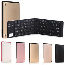 Slim Folding Portable Wireless Bluetooth Keyboard For iPhone Android Tablet PC *