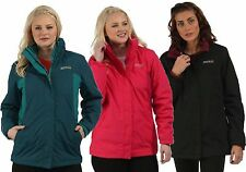 RRP £70 REGATTA LADIES PREYA 3IN1 WATERPROOF JACKET/ DETACHABLE INNER FLEECE