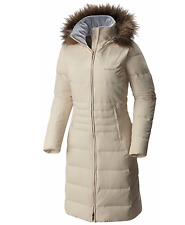 Columbia Women SMALL MEDIUM LARGE Long Down Jacket Warm Winter Coat Varaluck III