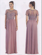 Chiffon Mother Bride/Groom Gown Formal Dresses Party Evening Short Sleeev M~5XL