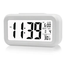 Digital Electronic Alarm Clock LCD Snooze with LED Backlight Light Calender