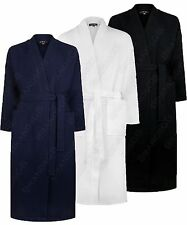 """""""MICHAEL PAUL"""" MENS 100% COTTON LUXURY LIGHTWEIGHT WAFFLE ROBE DRESSING GOWN"""