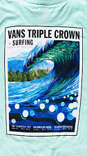 New Women 2016/17 Triple Crown Surfing Hawaii Contest Mint Baby Tee Shirt NWT