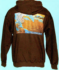 NWT Official Triple Crown Surfing Hawaii Contest Mens Brown Hoodie Sweat Shirt