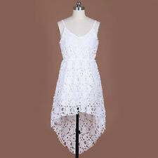 New Women Summer Sleeveless Lace Floral Evening Party Cocktail Short Mini Dress