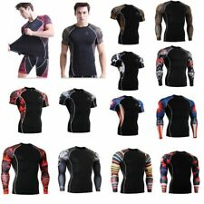 Long Sleeve Men's Compression Thermal Under Base Layer Tops Gym Tights T-shirts