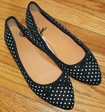 NEW NWT GAP Shoes Womens Black & White Print Pointy Pointed Toe Flats