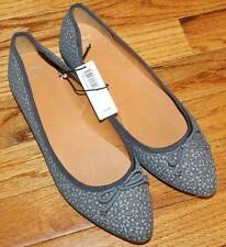 NEW NWT GAP Shoes Womens Grey Floral Print Pointy Pointed Toe Flats *E8