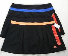 New ADIDAS Climalite Skort Skirt Stretch Black M 8 Athletic Tennis Running NWT