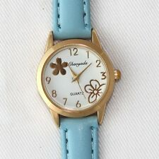 New Women's Children Trendy Boy Girl Faux Leather Analog Quartz Wrist Watch U55