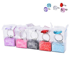 Super Big Diamond Crystal Ring Keychain Romantic Wedding Favor Party Gift Toy TO