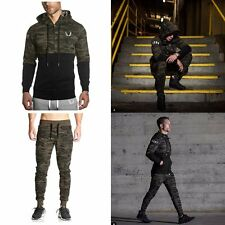 Camo Army Mens Muscle Brothers Hoodie Sweats Pants Running Gymshark Coat Jackets