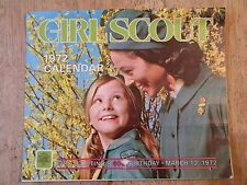 1972 GIRL SCOUT CALENDAR VINTAGE SCOUTING UNIFORM OLD