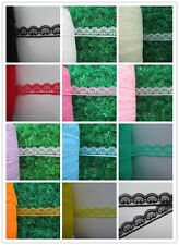 Wholesale 10-100 yards unilateral beautiful smiley pattern lace 2.5 cm wide