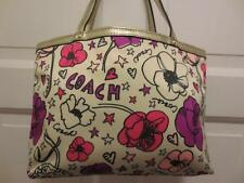 NEW ! COACH Signature Floral KYRA PRINT Poppy MINI TOTE Purse Handbag Bag F47473
