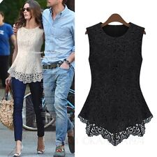 kala Sleeveless shirt Boho Summer Fashion Casual Blouse Ladies Womens Top Size