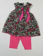 Baby Babies Clothes Girls Fashion 2 Piece Set Summer Dress Leggings Bow Floral 6