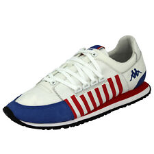 Kappa AUTHENTIC LA84 US ONE Shoes Sneakers Unisex White Leather Blue Red