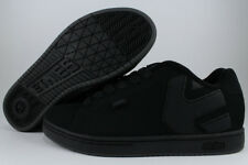 ETNIES FADER TRIPLE BLACK MONO DIRTY WASH GRAY LOW SKATE TRAINER US MEN SIZES