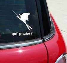 GOT POWDER? SKIING SNOW DOWNHILL GRAPHIC DECAL STICKER ART CAR WALL DECOR