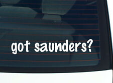 got saunders? FAMILY TREE REUNION LAST NAME SURNAME DECAL STICKER CAR WALL CUTE
