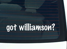 got williamson? FAMILY TREE REUNION LAST NAME SURNAME DECAL STICKER CAR WALL