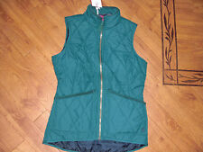 BNWT LADIES JOULES HARTLAND QUILTED GREEN GILET SIZE 8.RRP £34.95