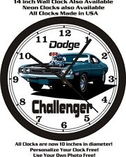 DODGE CHALLENGER WALL CLOCK-FREE USA SHIP!
