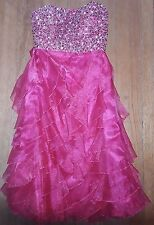 Worn ONCE Juniors STUNNING formal strapless dress size 1 Prom/Party/Dance