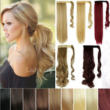 100% Clip In Extensions As human Hair Extension Pony Tail Wrap On Ponytail Nc1