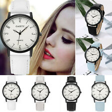 Fashion Women Stainless Steel Leather Watch Analog Quartz Girls Dial Wrist Watch