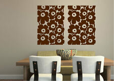 Contemporary Wall Stickers Poppy Split Centre Vinyl Decal 15 Colours 00417