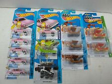 13 HOT WHEELS LOT FLINTSTONES FLINTMOBILE,SIMPSONS,HOMER,MARS ROVER CURIOSITY