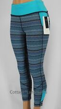 NEW LULULEMON Pace Rival Crop 2 4 Space Dye Twist Naval Blue Peacock FREE SHIP
