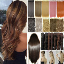 Natural 1PCS 3/4 Full Head Clip in on Hair Extension Real As Remy Human Hair FE