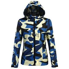 New Fashion Women Camouflage Long Sleeve Lightweight Hooded Shell Jacket LEBB