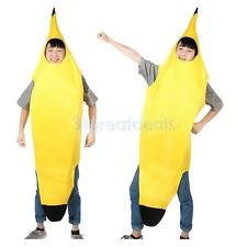 Adult Banana Costume Fancy Dress Outfit Hens Night Funny Comedy Body Suit Party