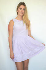JACK WILLS Lilac White Broderie Anglais Sleeveless Dress | SALE | Was £69.50