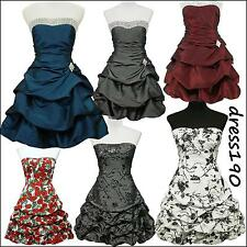 dress190 Strapless Puffball Floral/Sparkle Rockabilly Party Prom Cocktail Dress