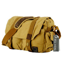 Mens Canvas Shoulder Bag Unisex College School Bag Satchel Cross Body Messenger
