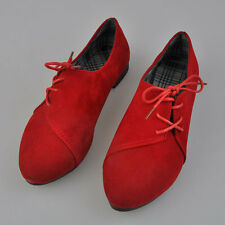 Fashion Women Artificial Nubuck Leather lace-Up Flat Shoes Pointed Toe Shoes AK