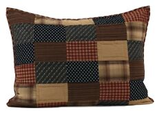 Patriotic Patch Red Patchwork Country King Queen Pillow Sham