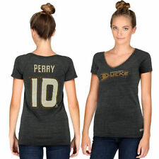 Corey Perry Anaheim Ducks CCM Women's Name & Number V-Neck T-Shirt - Gray - NHL