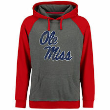 Ole Miss Rebels Classic Primary Pullover Hoodie - Ash/Red - NCAA