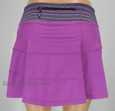 NEW LULULEMON Pace Rival Skirt TALL 4 Ultra violet Space Dye Twist NWT FREE SHIP