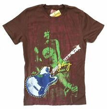The Ramones Swag Johnny Guitar Live Image Brown T Shirt New Official