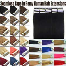 "5A Remy Straight Tape In Skin Human Hair Extensions 16''20""22'' 20/40/60pcs TE3"