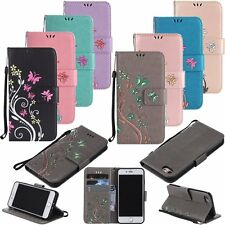 Flip Leather Wallet Card Strap Stand Case Cover For Apple iPhone 5S 6 6S 7 Plus