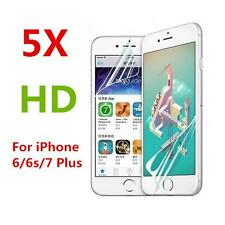 5PCS For Apple iPhone 6 6s 7 Plus Ultra Clear HD Screen Protector PET Film Guard