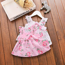 Toddler Infant Kids Baby Girls Summer Casual Dress Princess Party Dresses
